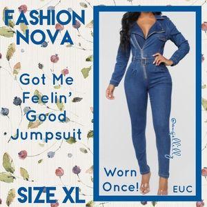💙 Fashion Nova Got Me Feelin' Good Jumpsuit 💙